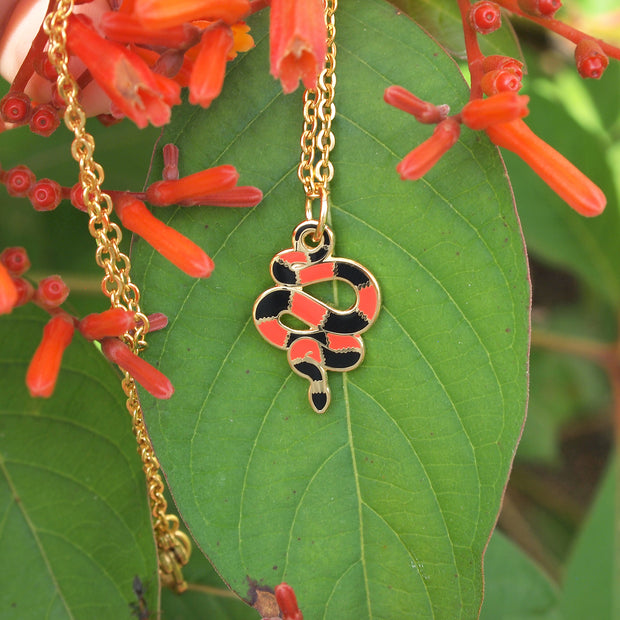 Mini Coral Snake Necklace - Oh Plesiosaur