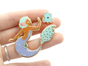 Seconds Sale - Dumbo Octopus Mermaid Pin Set - Oh Plesiosaur