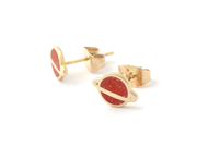 Red Planet Earrings - Oh Plesiosaur