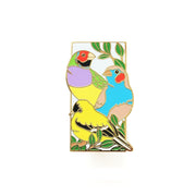 Three Finches Pin - Oh Plesiosaur