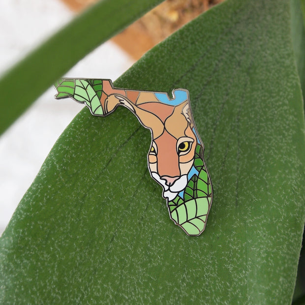 Florida Panther Pin - Oh Plesiosaur