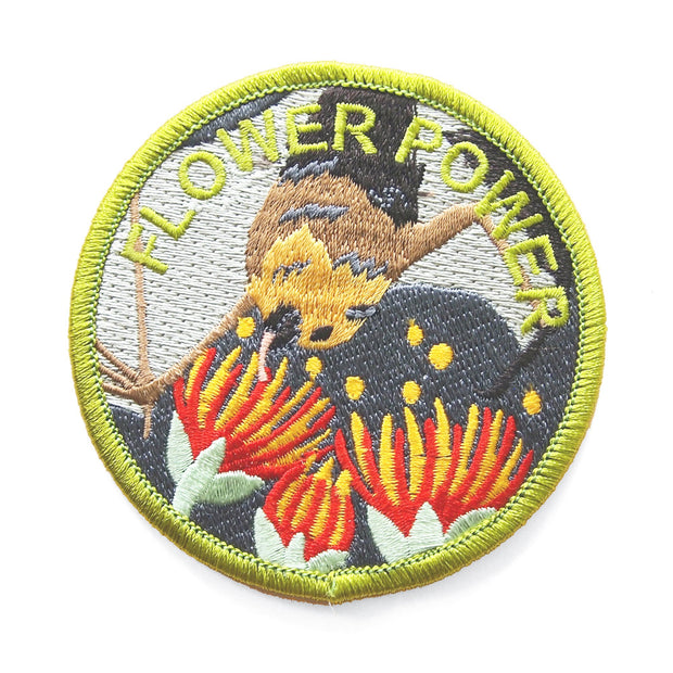 Flower Power Flying Fox Patch - Oh Plesiosaur