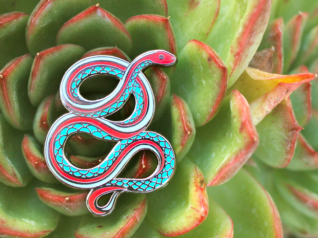 Seconds Sale - San Francisco Garter Snake Pin - Oh Plesiosaur