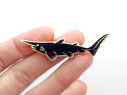 Goblin Shark Pin - Midnight Glitter - Oh Plesiosaur