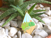 Seconds Sale - Hanging Terrarium Pin (Day) - Oh Plesiosaur