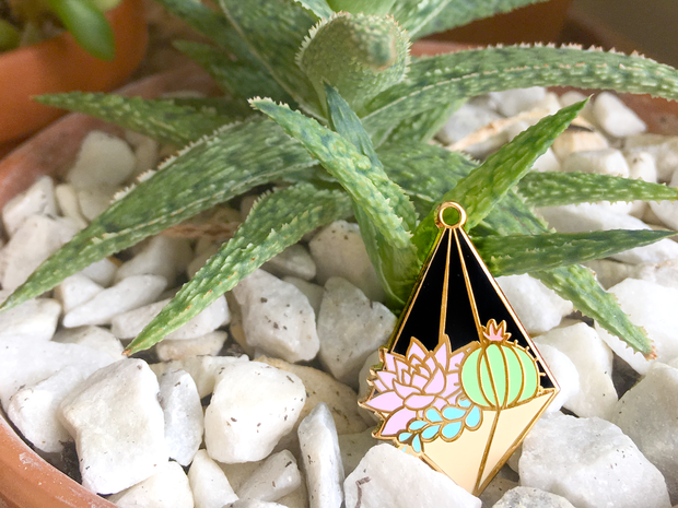 Hanging Terrarium Pin - Night - Oh Plesiosaur