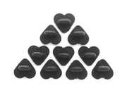 Black Heart Rubber Pin Backs (Set of 10) - Oh Plesiosaur