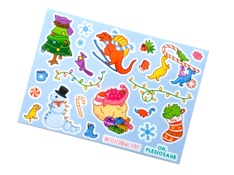 Dinosaur Holiday Stickers