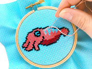 Cuttlefish Cross Stitch Pattern - Oh Plesiosaur