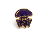 Purple Glitter Jellyfish Enamel Pin