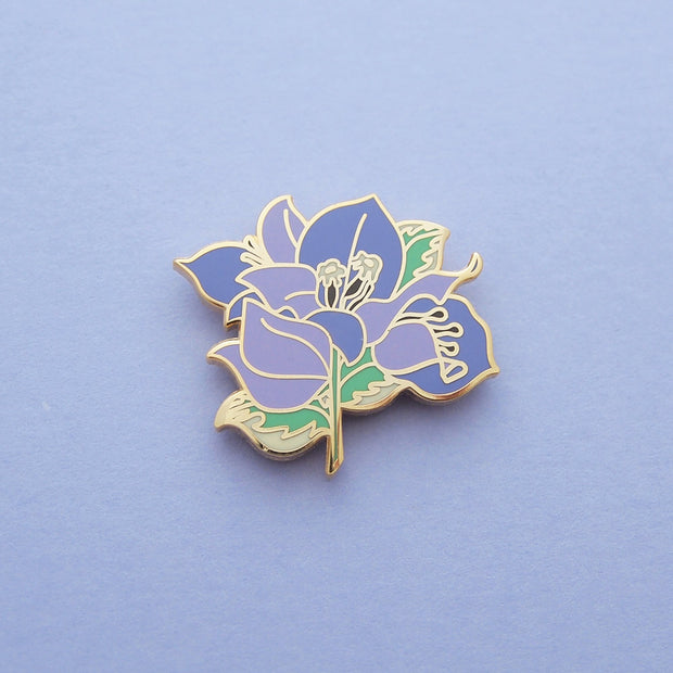 Seconds Sale - Purple Bougainvillea Pin - Oh Plesiosaur