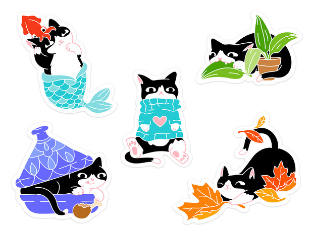 Loki Sticker Set - Oh Plesiosaur