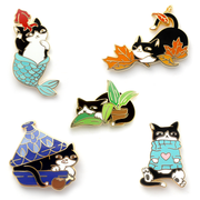 Seconds Sale - Loki Pin (Purrmaid Pals) - Oh Plesiosaur