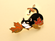 Seconds Sale - Loki Pin (Fall Foliage) - Oh Plesiosaur