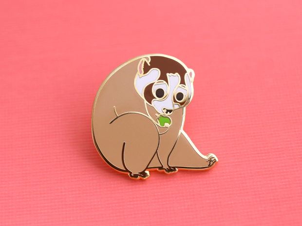 Seconds Sale - Slow Loris Pin - Oh Plesiosaur