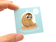 Slow Loris Pin - Oh Plesiosaur