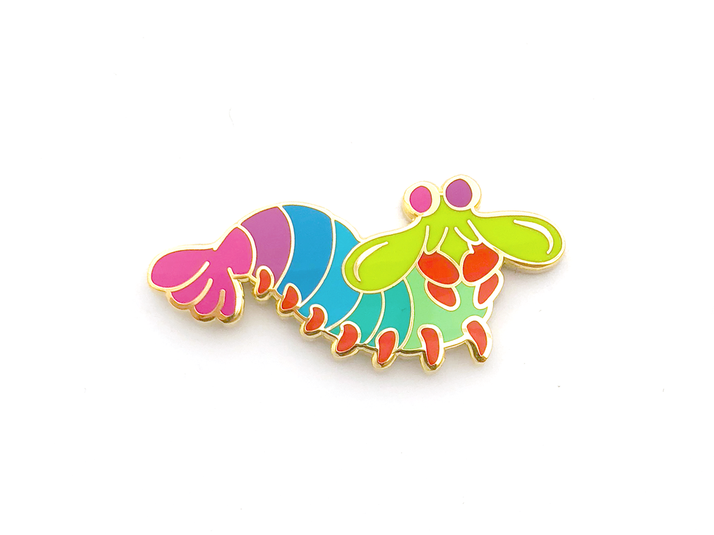 Mantis Shrimp Pin - Oh Plesiosaur