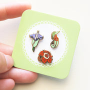 Carrion and Carnivorous Plants Mini Pin Set - Oh Plesiosaur