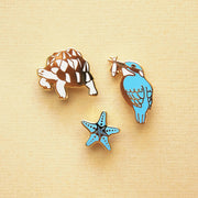 Earth Sea Sky Mini Pin Set - Oh Plesiosaur
