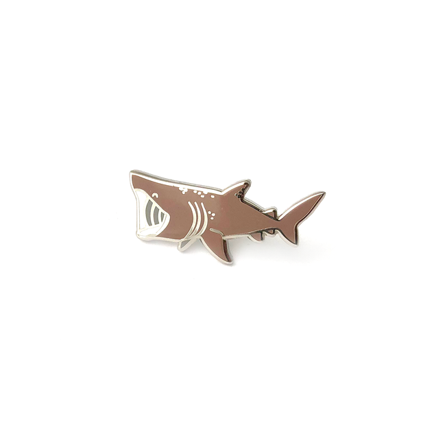 Mini Basking Shark Pin - Oh Plesiosaur