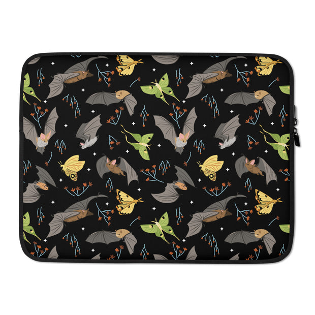 Bats & Moths Laptop Sleeve