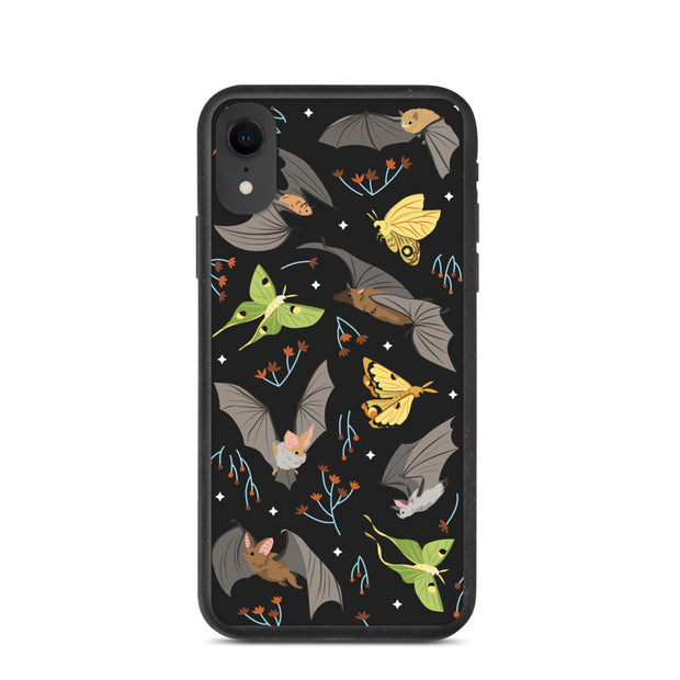 Bats & Moths iPhone Case - Biodegradable