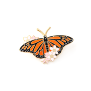 Monarch Butterfly Pin - Oh Plesiosaur
