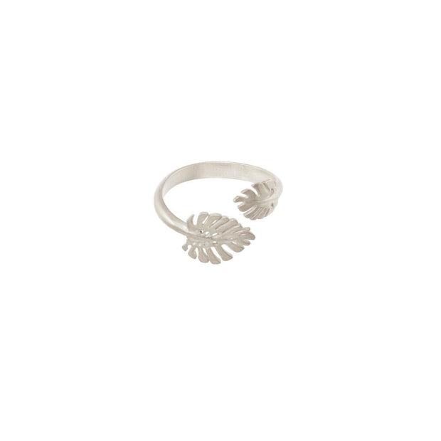 Silver Monstera Ring