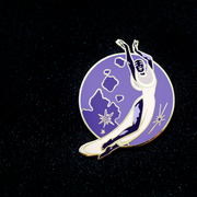 Seconds Sale - Moon Pin - Oh Plesiosaur