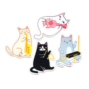 Musical Cats Sticker Pack - Oh Plesiosaur