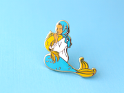 Blue Muslim Mermaid Pin - Oh Plesiosaur