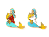 Seconds Sale - Blue Muslim Mermaid Pin - Oh Plesiosaur