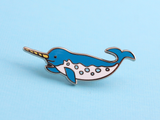 Seconds Sale - Narwhal Pin - Oh Plesiosaur