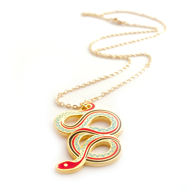 San Francisco Garter Snake Necklace - Oh Plesiosaur
