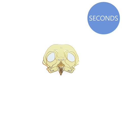 Seconds Sale - Barred Owl Skull Pin - Oh Plesiosaur
