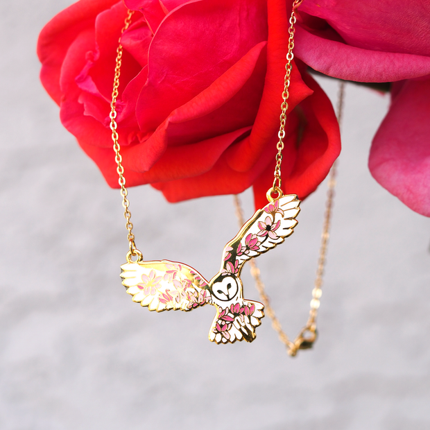 Barn Owl Necklace - Oh Plesiosaur