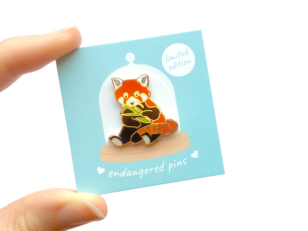 Red Panda Pin - Oh Plesiosaur