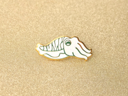Seconds Sale - White Glitter Cuttlefish Pin - Oh Plesiosaur