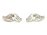 Glitter Cuttlefish Collar Pin Set