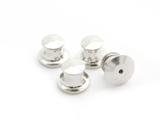 Silver Locking Pin Backs (Set of 4)