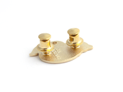 Gold Locking Pin Backs (Set of 4) - Oh Plesiosaur