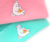 Mint Pizza Cat Beanie - Oh Plesiosaur