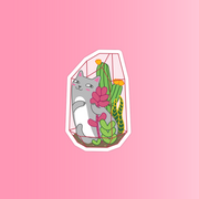 Plant & Cats Sticker Pack - Oh Plesiosaur