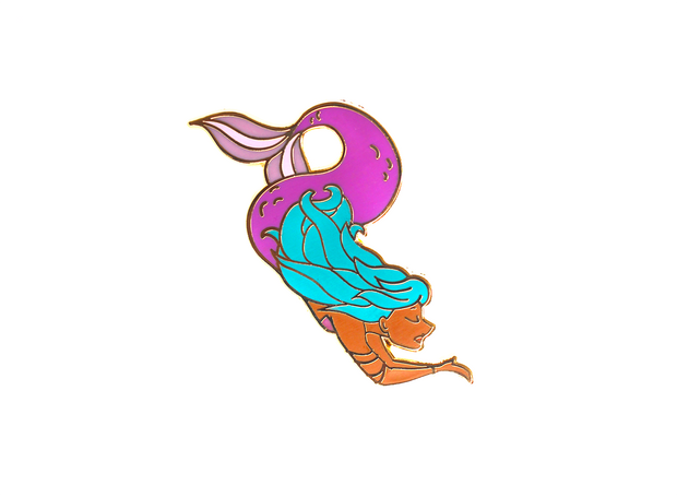 Purple Mermaid Pin - Oh Plesiosaur