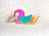Purple Mermaid Enamel Pin