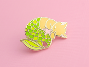 Seconds Sale - Green Purrmaid Pin - Oh Plesiosaur