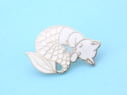 Winter Purrmaid Pin - Oh Plesiosaur
