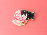 Seconds Sale - Pink Purrmaid Pin - Oh Plesiosaur