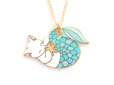 Blue Purrmaid Necklace
