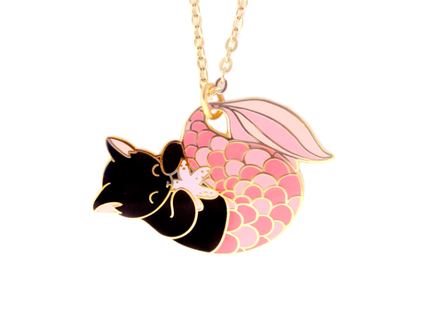 Pink Purrmaid Necklace